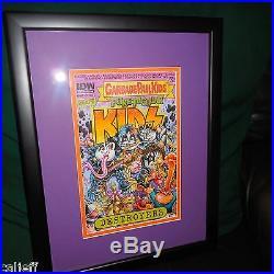 1/1 Kiss Idw Garbage Pail Kids Puketacular Comic Book Original Cover Art Framed