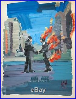 14 Pink Floyd Wish You Were Here Abstract Original Pop Art Painting Cover Art
