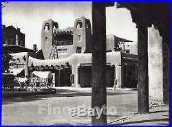 1927 Original NEW MEXICO Santa Fe Plaza Architecture Covered Wagon By E. O. HOPPE