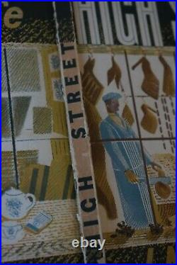 1930s ERIC RAVILIOUS Original Front & Back Cover of HIGH STREET Curwen Press