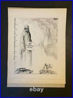 1946 Motor 90 Pedestrian Deaths Horror Original Artwork By Bolte Gibson 19x15