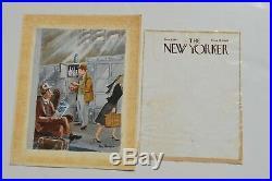 1947 New Yorker Magazine Painting Original Illustration Art Cover Lorin Thompson