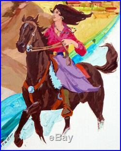 1970's Vintage HAL ASHMEAD Pulp ROMANCE NOVEL COVER Illustration Art Painting