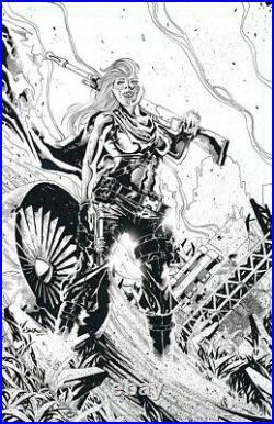 4001 A. D. War Mother #1 Original Cover Art VALIANT COMICS 2017