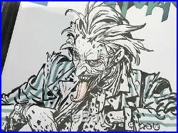 9.8 CGC ss KIM JUNG GI Original Art JOKER Sketch BATMAN blank cover commission 1