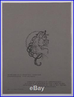 A. Mucha Original woodcut cover 1897 L'image Art Nouveau Symbolism