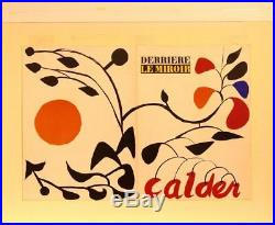 ALEXANDER CALDER, Derriere Le Miroir, Original Portfolio Cover