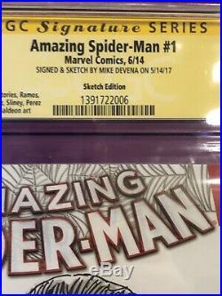 AMAZING SPIDER-MAN #1 CGC SS 9.8 original art sketch COVER STAN LEE HOMAGE