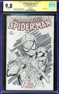 AMAZING SPIDER-MAN #1 Sketch Edition CGC 9.8 original cover art by ANDY KUBERT
