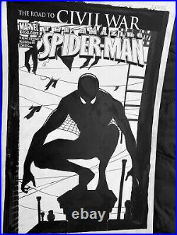 AMAZING SPIDER-MAN #530'ALTERNATE' CIVIL WAR COVER (2006) Original Comic Art