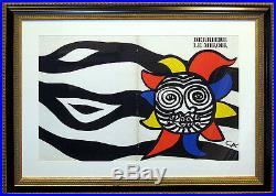 Alexander Calder, Derriere le Miroir 156 Cover Original Lithograph Custom Framed