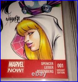Amazing Spider-man #1 9.8 Cbcs Ss Original Art John Romita Sr & Jose Varese