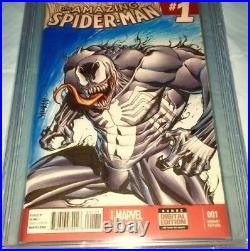 Amazing Spider-man #1 Blank Cbcs Ss 9.8 Ap 1of1 Original Art Sketch Jose Varese