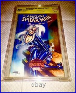Amazing Spider-man #1 Blank Cover Cbcs Oa Ss Original Art Sketch Jose Varese