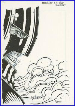 Amazing X-men #17 Original Cover Art with Prelim by JORGE FORNES feat Juggernaut