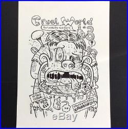 Anton Emdin ORIGINAL ART Cruel World #8 Cover Lowbrow Comix Australian 2000