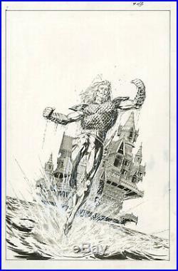 Aquaman Sword Of Atlantis #43 Cover Original Comic Art Jackson Guice