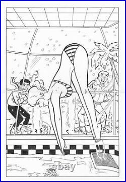 Archie Comics Veronica 28 Parody Betty By Jeff Shultz Original Art After Decarlo