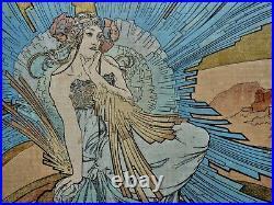 Art Nouveau Alphonse Mucha Original Cover Book 1898 Rare
