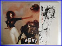 Ashley Wood Legger Boot Book with original mixed media signed art on cover