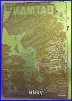 BATMAN 425 COMIC BOOK ORIGINAL ART PRINTING PLATE Mark Bright Anthony Tollin