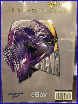 BATMAN/THE MAXX #1 CGC 9.8 ORIGINAL art sketch COVER THE MAXX ACRYLIC SKETCH
