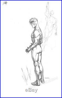 BOOSTER GOLD Signed ORIGINAL ART Ryan Sook DC HEROES IN CRISIS #9 Cover PRELIM