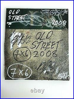 Bast Original Mixed Media Collage on Book Cover 2008 Street Art Graffiti Faile