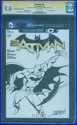 Batman 0 CGC SS 9.6 Andy Smith Original art Sketched Variant Cover Top 1 no 8