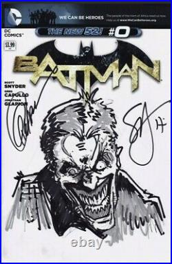 Batman 0 Sketch Cover With Original Joker Art By Scott Snyder Signed By Capullo