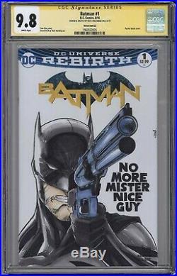 Batman #1 CGC 9.8 original art sketch Frank Miller Daredevil 184 homage cover