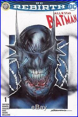 Batman All Star Turkish BLANK SKETCH COVER Gorkem Demir Who Laughs Original Art