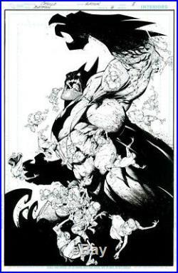 Batman Original ART Greg Capullo Cover Todd McFarlane Mignola Jim lee sketch OA
