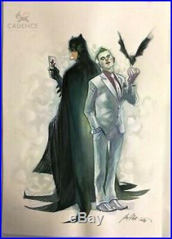 Batman Rebirth #1 Painted Variant Original Art Cover by Rafael Albuquerque Joker