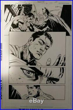 Batman Superman #31 Pg. 19 Original Art by Doug Mahnke Joker Wonder-Woman Flash