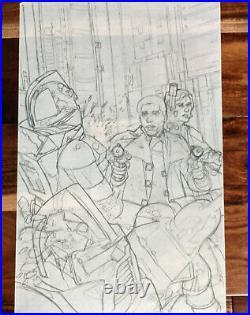 Battlestar Galactica 3 Comic Cover Prelim Rough Dave Dorman Original Artwork Art
