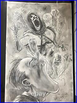 Ben Templesmith Gothem By Midnight COVER #5 Original Art Large Art
