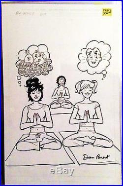 Betty & Veronica Digest #209 11x17 original cover art signed by Dan Parent