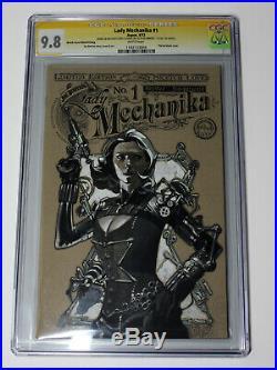 Black Widow original art sketch cover steampunk Johansson LM #1 CGC 9.8
