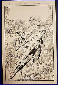 Bob Layton Original cover art. Solar #3 1st Lady Solar. BWS Barry Windsor Smith