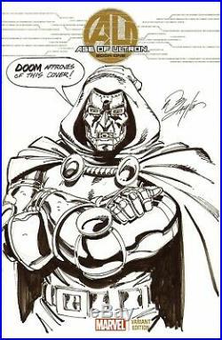 Bob Layton Signed 2013 Dr. Doom Sketch Cover Original Art