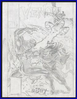 Bob McLeod Signed Original Comic Cover Art Prelim Venom Enemy Within #2 Morbius