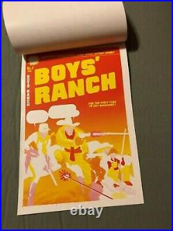 Boys Ranch #2 COVER ART original RARE 7 PAGE COVER PROOF 1950 SIMON and KIRBY