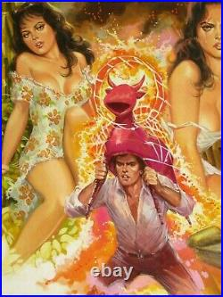 Breasts Sexy Beautiful Senorita Gorgeous Babes Original Mexican Comic Cover Art