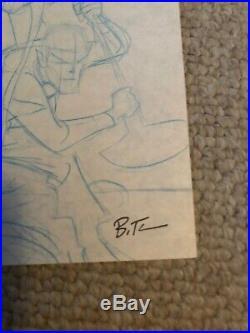 Bruce Timm Original WonderCon program cover art (blue line preliminary)