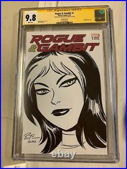 Bruce Timm Rogue Sketch Cover Original Art Cgc Ss 9.8 Rogue Gambit X-men 1