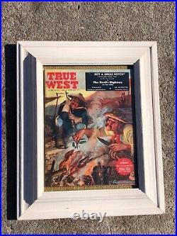Brummett Echohawk Original Gouache Cover Illustration True West Magazine Dec 59