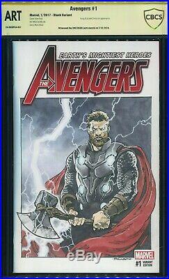 CBCS ART Thor original sketch by Dike Ruan Avengers blank sketch cover cgc
