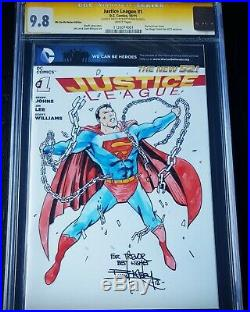 CGC SS 9.8 Justice League Sketch Cover Superman Original Art by Barry Kitson