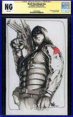 CGC SS Winter Soldier Original Art sketched by Ben Harvey blank sketch cover